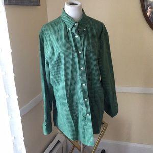 L.L. Bean wrinkle Free Large Cotton Shirt In EUC